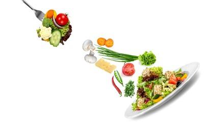 Salad, greek, background.