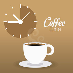 Coffee time design.