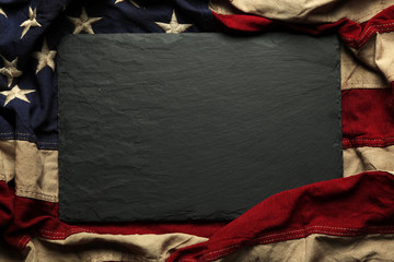 American flag background for Memorial Day or 4th of July Wall mural
