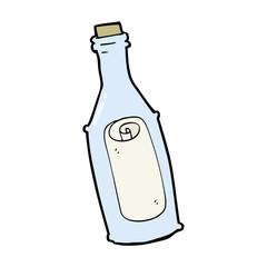cartoon message in bottle