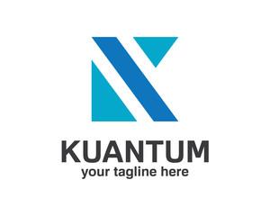 Business corporate letter K logo design template. Square shape letter k logo. Simple and clean design of letter K logo vector.