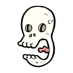 funny cartoon skull
