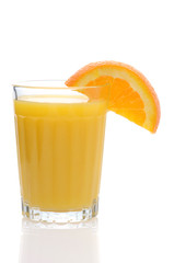 Glass of Orange Juice with Wedge