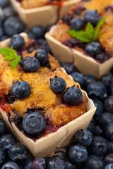 Blueberry Mini Cakes. Selective focus.