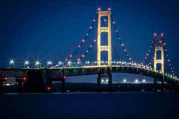 Mackinac Bridge - Upper Michigan on Lake Huron and Lake Michigan