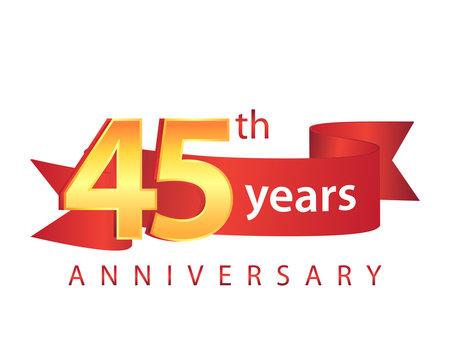 45 Ribbon Anniversary Logo