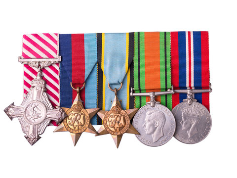 medal group including air force cross