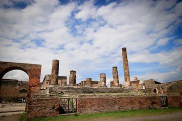 Inside the Pompeii excavation site