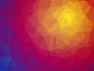 Wonderful color triangular red yellow blue background