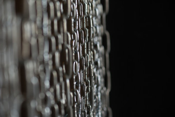 metal chain decoration, background