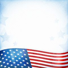 USA patriotic background with stars and stripes