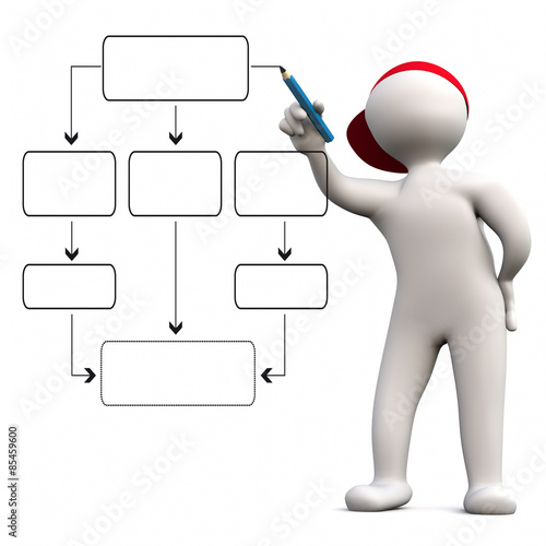 Quot3d man flow chartquot stock photo and royalty free images on fotoliacom pic 85459600 for 3d flow chart