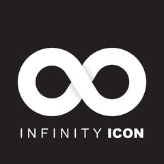 Limitless symbol, infinity vector