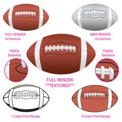 Various vector footballs
