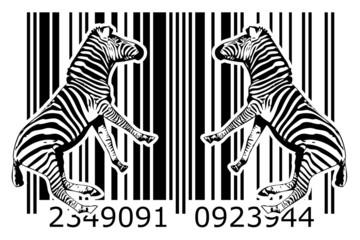 Zebra barcode animal design art idea