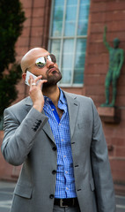 Business Man Talking with Cellphone