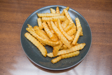 French Fries sprinkle salt for dinner