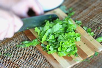 vegetable salad cooking sliced