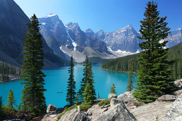 Acrylic Prints Canada Moraine Lake in the Canadian Rockies