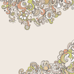 Romantic background with flowers and space for text