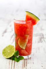 Fresh and cold watermelon drink