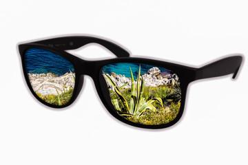 Sonnenbrille Strandsicht 01