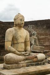 Sitting Buddha Statue at Vatadage, Polonnaruwa, Sri Lanka