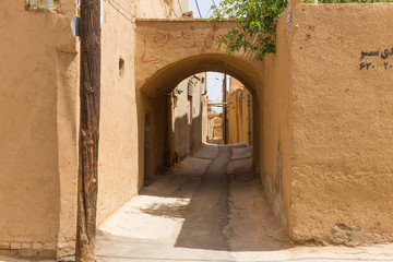 Streets of the old town of Yazd in Iran