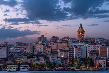 Galata Tower at Sunset
