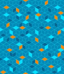 Seamless cubes pattern