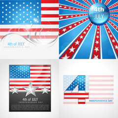 vector collection of american flag design