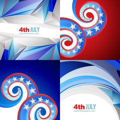 american flag abstract background with creative illustration