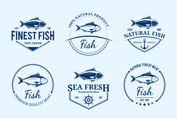 Fish Logos, Labels and Design Elements
