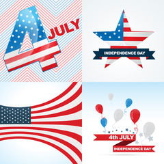 vector collection of american independence day background