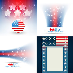 vector collection of american flag design illustration