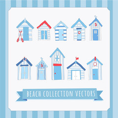 Hand Drawn Beach Collection Vectors