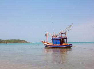 fishing boat in Bang Saray see near Pataya,Thailand