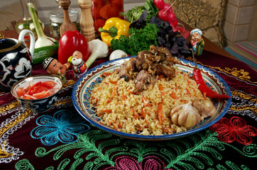Uzbek  pilaf .
