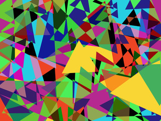 Abstract geometry color triangles background