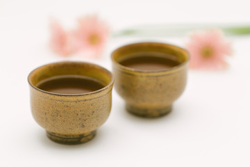 Traditional Japanese ceramic tea cups