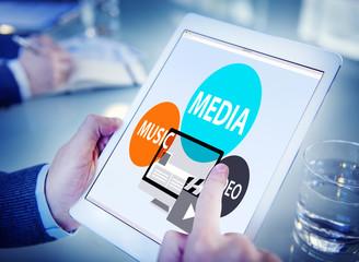 Media Music Video Technology Communication Concept