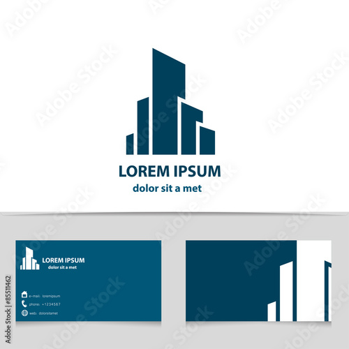 Building Construction Logo Design For Your Company Creative - Free construction business cards templates