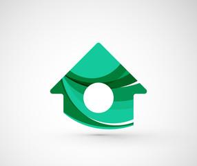 Abstract geometric company logo home, house, building