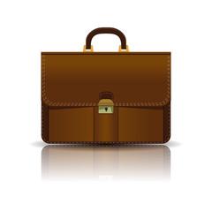 Briefcase icon. Vector illustration.