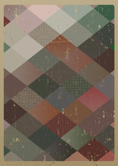 Abstract retro geometric background. Vector Illustration