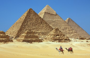 Photo sur cadre textile Egypte The pyramids in Egypt