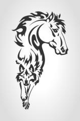 TATOO (Лошадь и Волк)