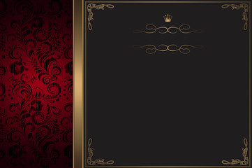 Wall Mural - Vintage background with decorative frame.