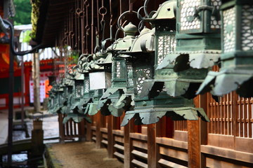 Japanese lanterns in Nara