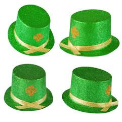 Four views of a leprachaun hat